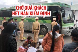 Tạm giữ xe BS Lào chở quá khách, hết hạn kiểm định