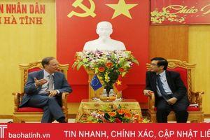 Trưởng phái đoàn Liên minh châu Âu tại Việt Nam chúc tết Hà Tĩnh