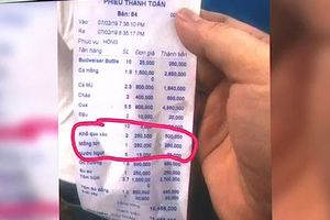 Nhà hàng ở Nha Trang 'chém' 3 đĩa rau 750.000 đồng