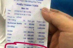 Phạt 750.000 đồng đối với nhà hàng chặt chém khách du lịch ở Nha Trang