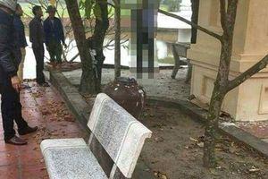 Người đàn ông chết trong tư thế treo cổ ở chùa
