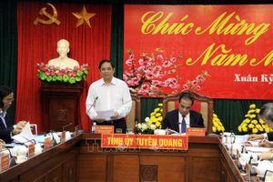 Đoàn công tác của Ban Tổ chức Trung ương làm việc tại Tuyên Quang