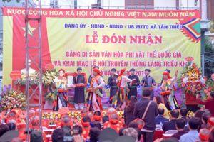 Đón Bằng di sản văn hóa phi vật thể cấp quốc gia lễ hội truyền thống làng Triều Khúc