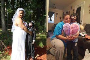 Rùng rợn cô gái kết hôn cùng búp bê xác sống