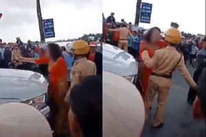 Hải Phòng: Bị CSGT dừng xe đón dâu vì đốt pháo, mẹ chú rể chống đối quyết liệt