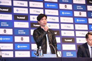 Clip: Công Phượng hứa sẽ thi đấu hết mình tại Incheon United