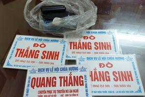 Xử lý 20 trường hợp 'cò mồi', chèo kéo du khách ở chùa Hương