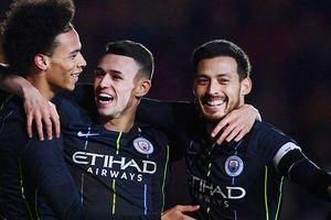 Dễ dàng vào tứ kết FA Cup, Man.City tiếp hành trình 'ăn 4'