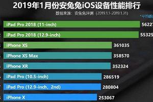 iPad Pro 2018 là thiết bị iOS mạnh nhất theo bảng xếp hạng Antutu