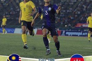 Clip: U22 Campuchia bất ngờ hạ Malaysia, đứng đầu bảng 'tử thần'