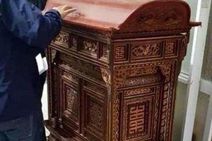Hải Phòng: Đã tìm được chiếc kiệu cổ trên trăm tuổi của đình Hoàng Châu