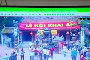 Phó ban tổ chức lễ hội đền Trần: Lắp camera để đảm bảo an ninh chứ không nhằm vào đối tượng nào!