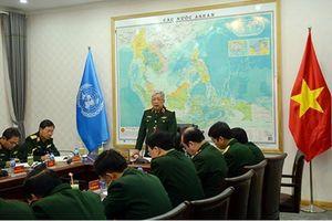 Chuẩn bị cho Đội Công binh tham gia hoạt động gìn giữ hòa bình LHQ