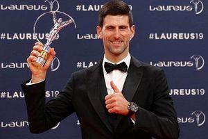Djokovic lần thứ tư đoạt 'Oscar thể thao'