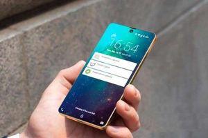 Điện thoại tầm trung Samsung Galaxy A50 ấn tượng với mặt lưng nhựa bóng