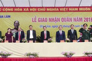 151 tân binh huyện Gia Lâm lên đường nhập ngũ