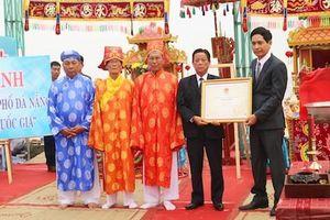 Lễ hội Cầu ngư ở Đà Nẵng được công nhận là Di sản Văn hóa phi vật thể quốc gia