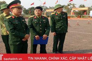 Chuẩn bị tốt các phương án phục vụ lễ giao quân ở Hà Tĩnh