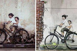 Bức tranh gây sốt ở Malaysia, bất ngờ xuất hiện ở Hà Nội khiến cư dân mạng 'khóc thét'