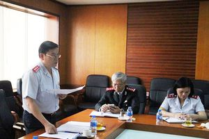 Phó Tổng Thanh tra Trần Văn Minh làm việc với Trường Cán bộ Thanh tra