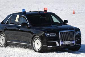 Đua xe chuyên chở Tổng thống Putin, tài xế phô diễn kỹ năng hạng nhất