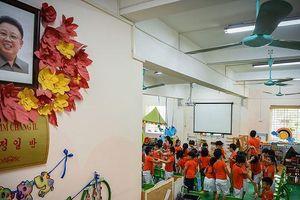 Bên trong ngôi trường có lớp học mang tên Kim Nhật Thành ở Hà Nội