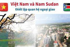 Thiết lập quan hệ ngoại giao giữa Việt Nam - Nam Sudan