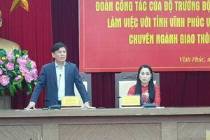 Bộ GTVT đề nghị Vĩnh Phúc 2 phương án kết nối cao tốc