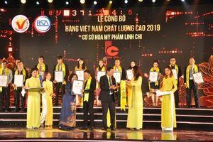 Mỹ Phẩm Linh Chi đạt danh hiệu Hàng Việt Nam chất lượng cao 5 năm liên tiếp