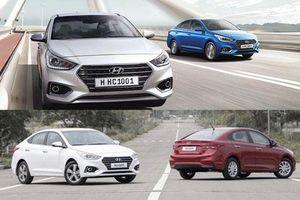 Chi tiết 3 phiên bản, 4 màu của Hyundai Accent 2019
