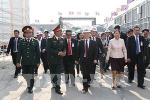 Tổng Bí thư, Chủ tịch nước Nguyễn Phú Trọng thăm công trình xây dựng Nhà Quốc hội Lào