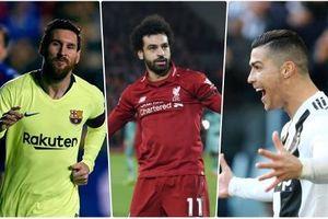 Vua phá lưới châu Âu 2018/2019: Messi dẫn đầu, Ronaldo hụt hơi