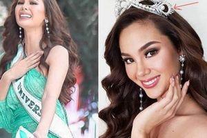 Sự cố hy hữu: Hoa hậu Hoàn vũ mải tạo nét, làm gãy vương miện 6 tỷ đồng