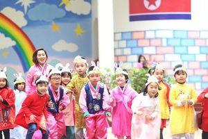 Trường Mẫu giáo Việt-Triều náo nức trước chuyến thăm của Chủ tịch Kim Jong-un