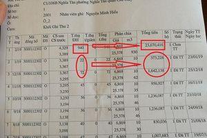 Phấp phỏng chờ kết quả kiểm định đồng hồ khi hóa đơn tiền nước 23,6 triệu đồng/tháng