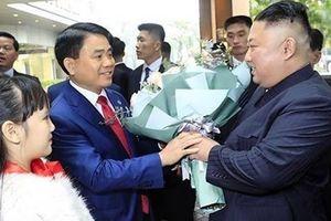 Chủ tịch Hà Nội Nguyễn Đức Chung đón Chủ tịch Kim Jong-un và đoàn Triều Tiên tại khách sạn Melia
