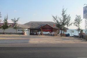 Nhà hàng ở Bình Thuận lấn biển vi phạm hành lang quốc lộ