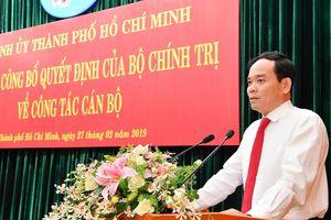 Nhiều gửi gắm với tân Phó Bí thư Thường trực Thành ủy TPHCM Trần Lưu Quang