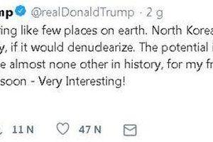 Tổng thống Trump gọi Chủ tịch Kim Jong-un là 'người bạn của tôi'