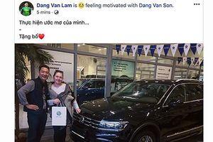 Thủ môn Lâm Tây mua xe Volkswagen Tiguan mới tặng Bố