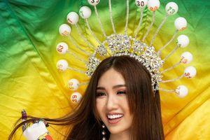 Đỗ Nhật Hà mang trang phục dân tộc lấy ý tưởng 'gánh lô tô' đi thi quốc tế