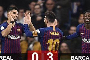 Real 0-3 Barca: Bẻ cánh Kền kền, Barca vào chung kết cúp Nhà vua