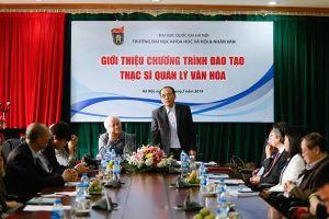 Đại học KHXH&NV Hà Nội sẽ đào tạo Thạc sĩ Quản lý Văn hóa có chiều sâu