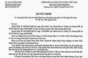 Chủ tịch UBND tỉnh Quảng Nam bị giả mạo văn bản 'duyệt dự án khủng'