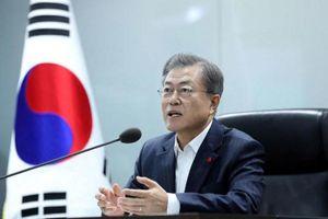 Tổng thống Hàn khen hội nghị Trump-Kim, muốn làm cầu nối giữa Mỹ-Triều
