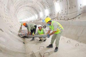 TP.HCM: Nhộn nhịp công trường tuyến metro số 1 ngày đầu năm