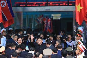 Clip Chủ tịch Triều Tiên Kim Jong-un lên tàu hỏa rời Việt Nam