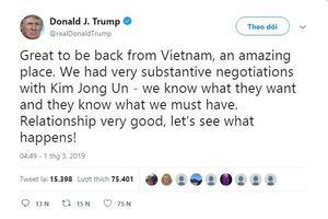 TT Trump tiếp tục ngợi khen Việt Nam sau khi về nước