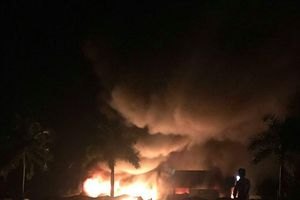 Cháy 30 ki-ot tại Kiên Giang lúc rạng sáng