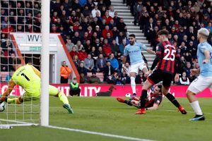 Thắng nhọc Bournemouth, Man City trở lại ngôi đầu bảng Premier League